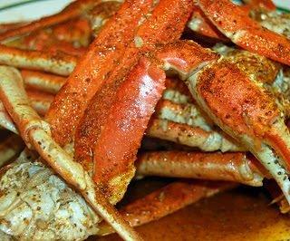 Snow Crab Legs in Garlic Butter Beer Sauce
