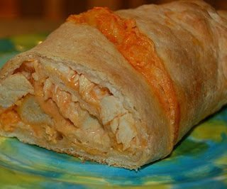 Easy Buffalo Chicken Stromboli