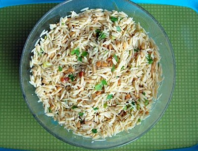 Orzo with Roasted Pine Nuts