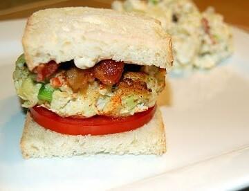 Avocado Crab Cake Sandwich