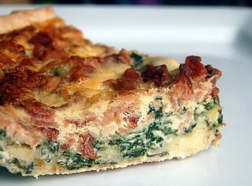 Cheddar, Bacon and Spinach Pie