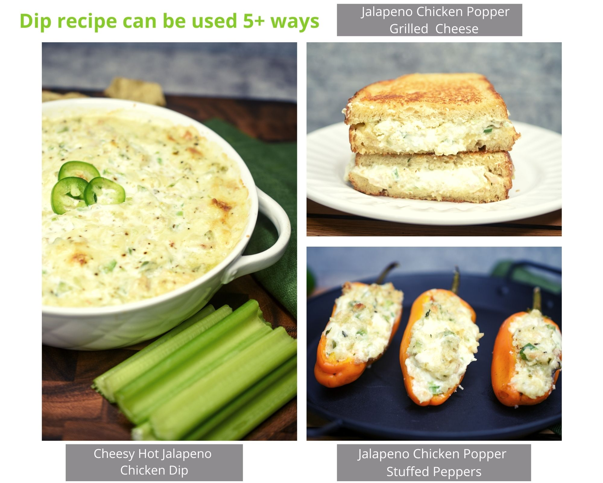 Hot & Cheesy Jalapeno Popper Dip with Chicken