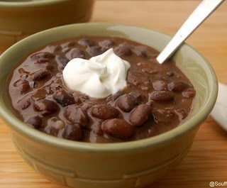Black Bean and Bacon Soup