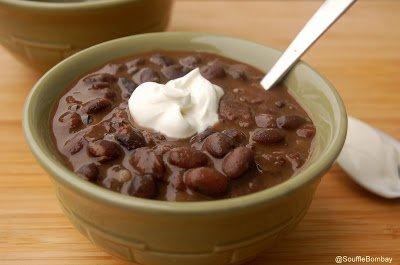 Black Bean and Bacon Soup