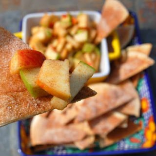 Apple Salsa with Cinnamon & Sugar Chips