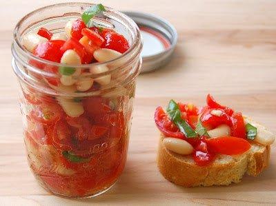 Tomato & Bean Bruschetta