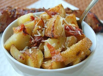 Roasted Potatoes with Bacon & Parmesan