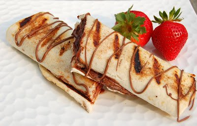 Grilled Nutella & Strawberry Tortilla Wraps