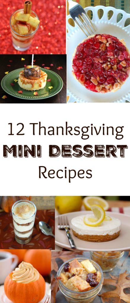 12 Thanksgiving Mini Dessert Recipes