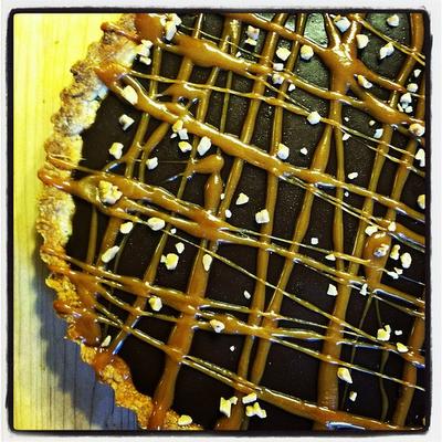 Caramel & Chocolate Tart with a Shortbread Crust