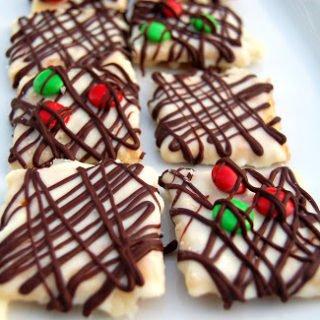 White & Dark Chocolate Toffee Cookies