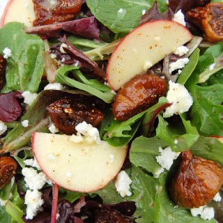 Sauteed Fig & Goat Cheese Salad