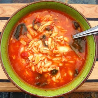 Chicken Tomato Orzo & Spinach Soup