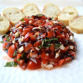 Tomato Mozzarella Bruschetta with Balsamic Glaze