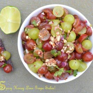 Spicy Honey Lime Grape Salsa