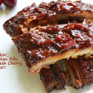 Grilled Ribs with a Fresh Cherry BBQ Sauce