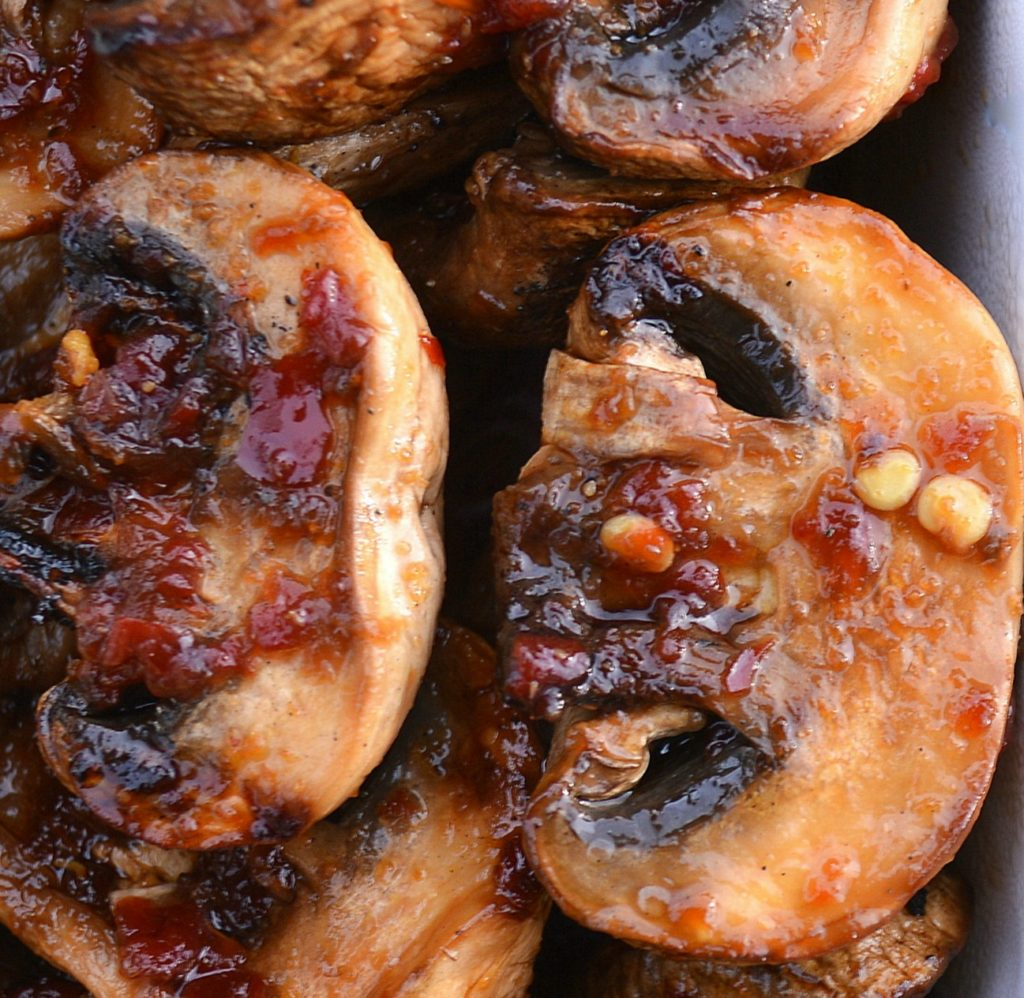 Spicy Grilled Mushrooms we call Magic Mushrooms because they are SO delicious!