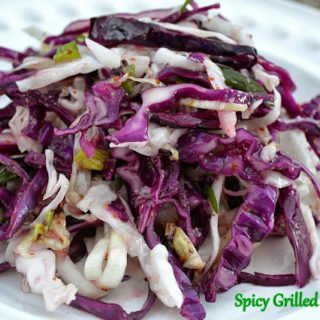 Spicy Grilled Cole Slaw