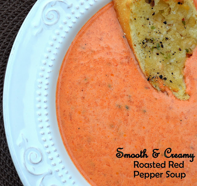Creamy Roasted Red Pepper Soup - Souffle Bombay