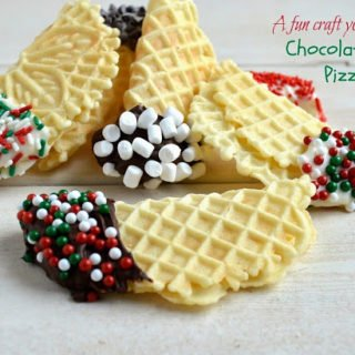 Chocolate Dipped Pizzelles, Edible Pretzel Wreaths and My TV Appearance