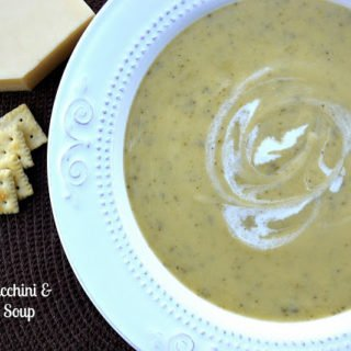 Roasted Zucchini and Cheddar Soup