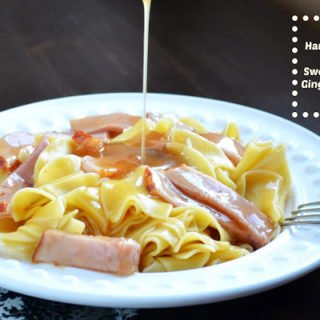 GG's Ham & Noodles in a Sweet Savory Ginger Ale Sauce