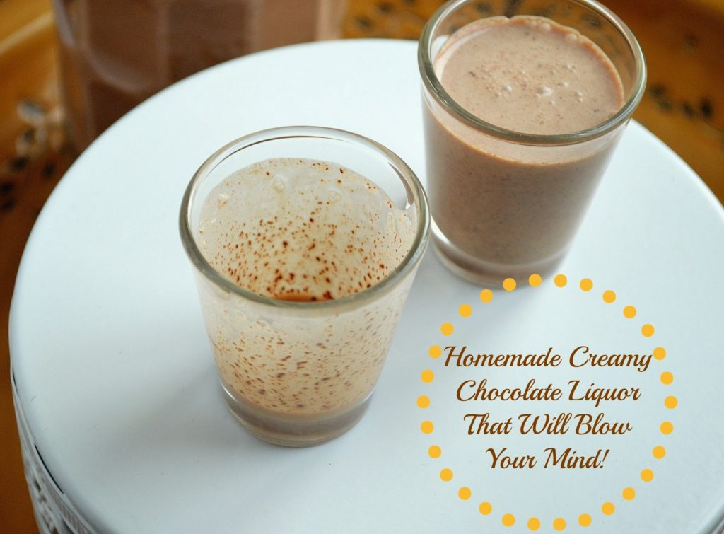 chocolate alcohol drink - creamy chocolate liquor