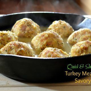 Turkey Meatballs in a Savory Broth