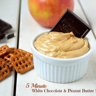 5 Minute White Chocolate & Peanut Butter Dip