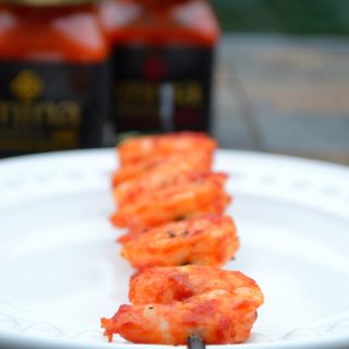 Harissa Grilled Shrimp