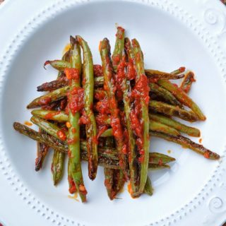 Charred Green Beans Tossed with Harissa