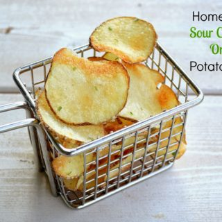 Homemade Sour Cream & Onion Potato Chips