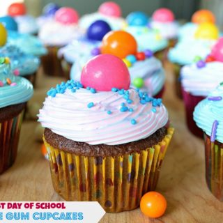 Bubble Gum Cupcakes for Young & Hungry Blogger Challenge