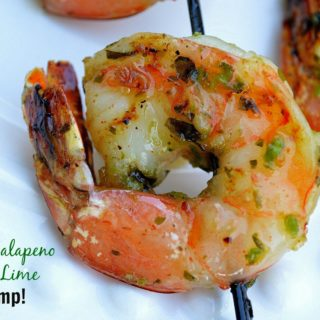 Grilled Jalapeno Honey Lime Shrimp