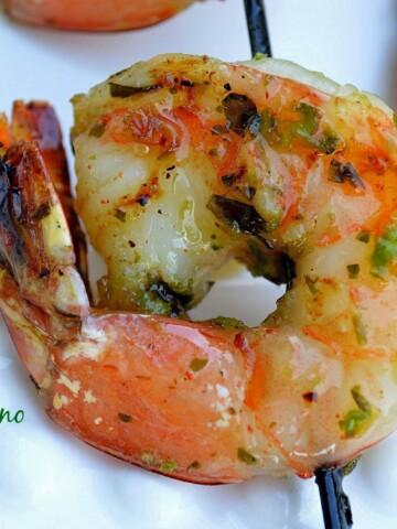 Grilled Jalapeno Honey Lime Shrimp