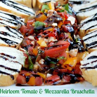 Heirloom Tomato & Mozzarella Cheese Bruschetta