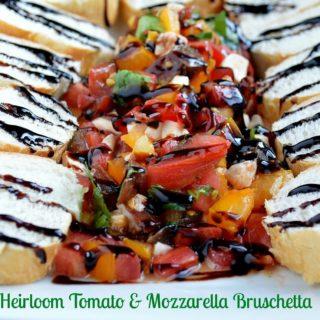 Heirloom Tomato & Mozzarella Cheese Bruschetta