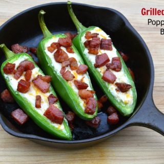 Grilled Jalapeno Poppers with Bacon Bits