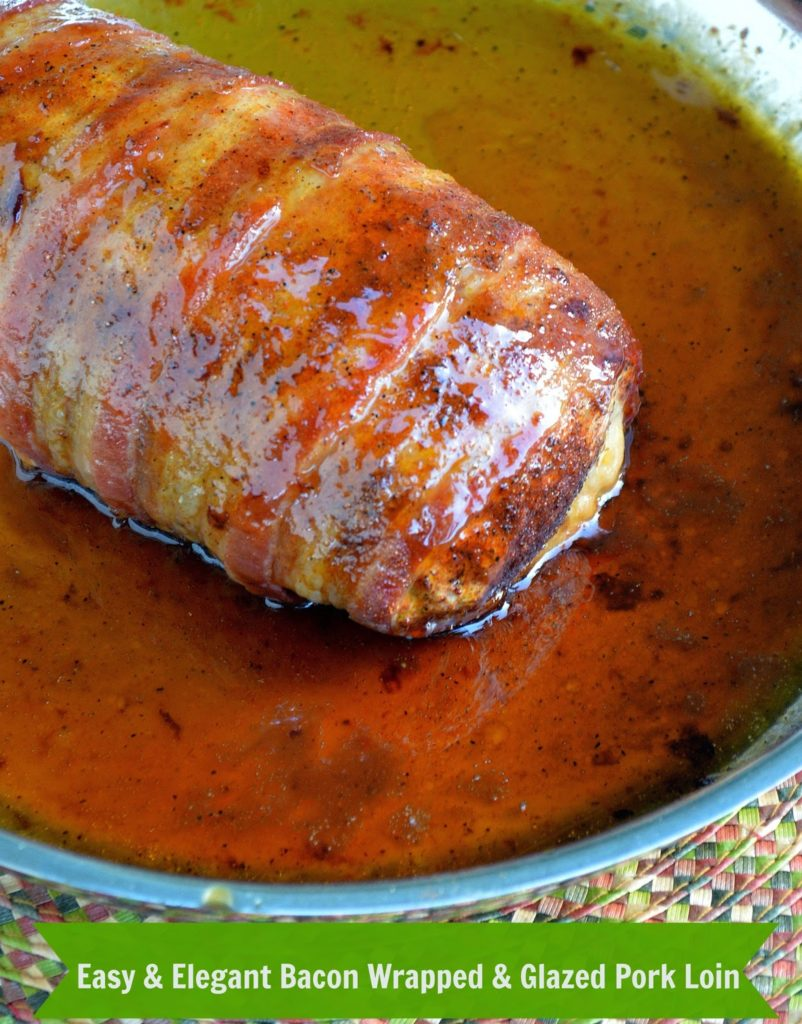 Bacon Wrapped Pork Loin - So delicious, easy to make and will have you looking like a rock-star of a cook!