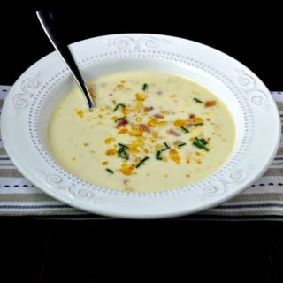 Fresh Corn Soup with Chili Oil And Bacon Plus a Special Giveaway #HeritageFarmFare
