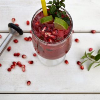 Perfect Pomegranate Mojitos
