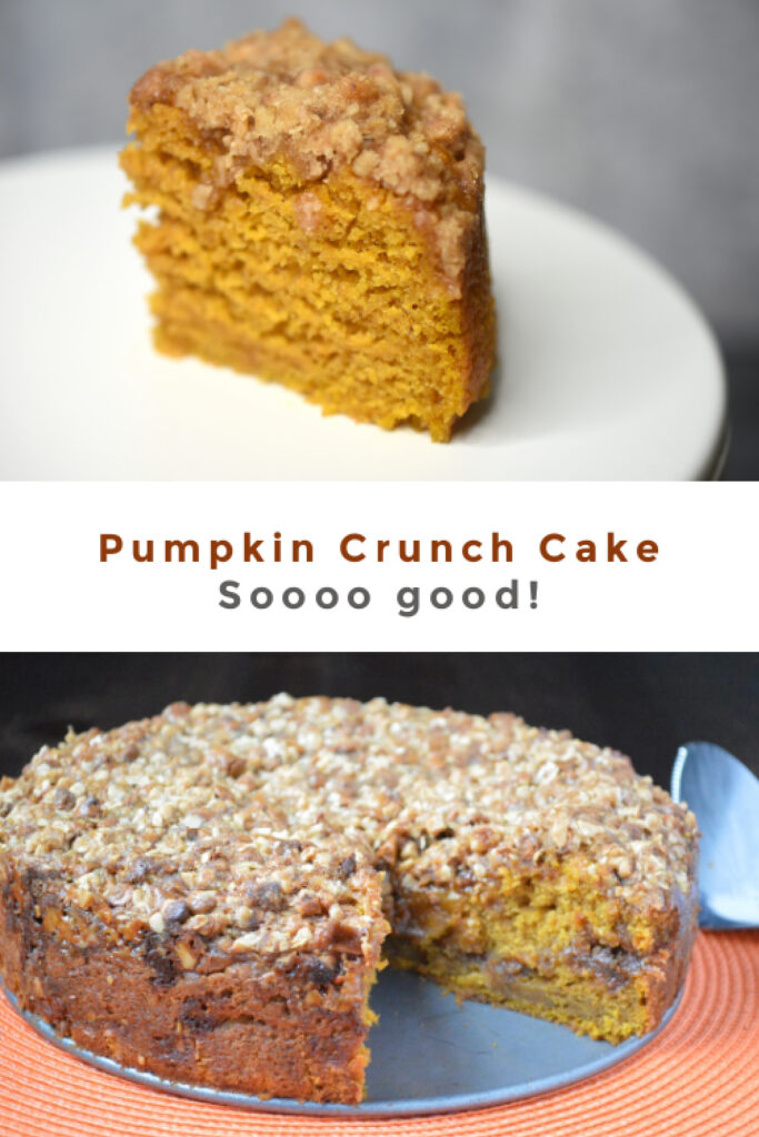 Pumpkin crunch cake recipe pinterest pin