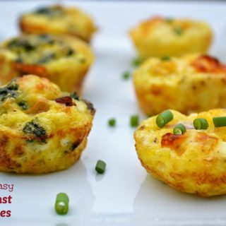 Mini Ham & Cheese Breakfast Cupcakes