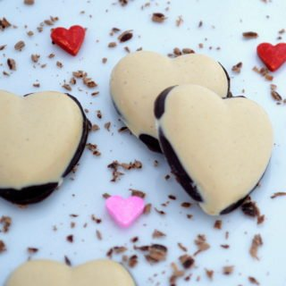4 Ingredient Chocolate & Peanut Butter Candy Hearts