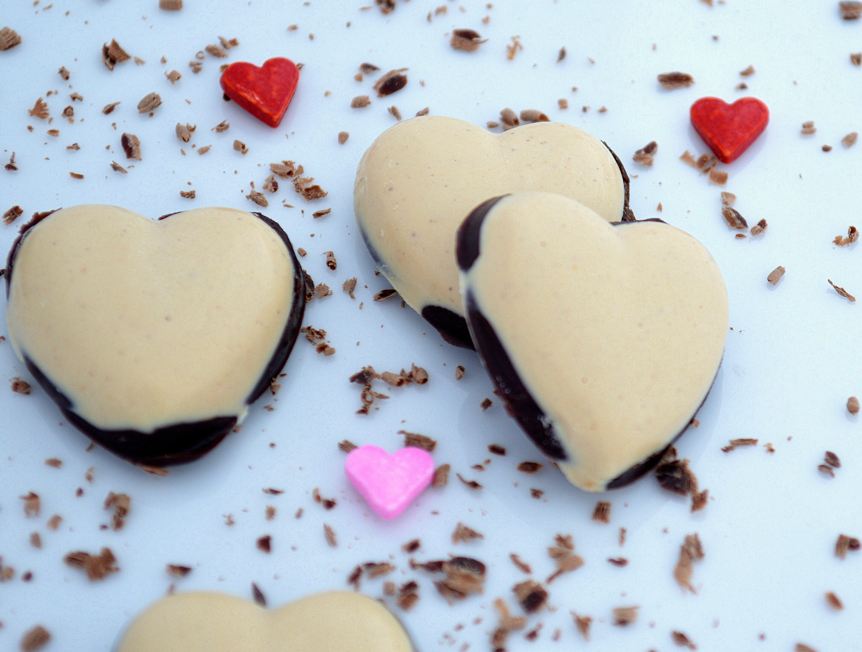 4 Ingredient Chocolate and Peanut Butter Valentine's Day Hearts
