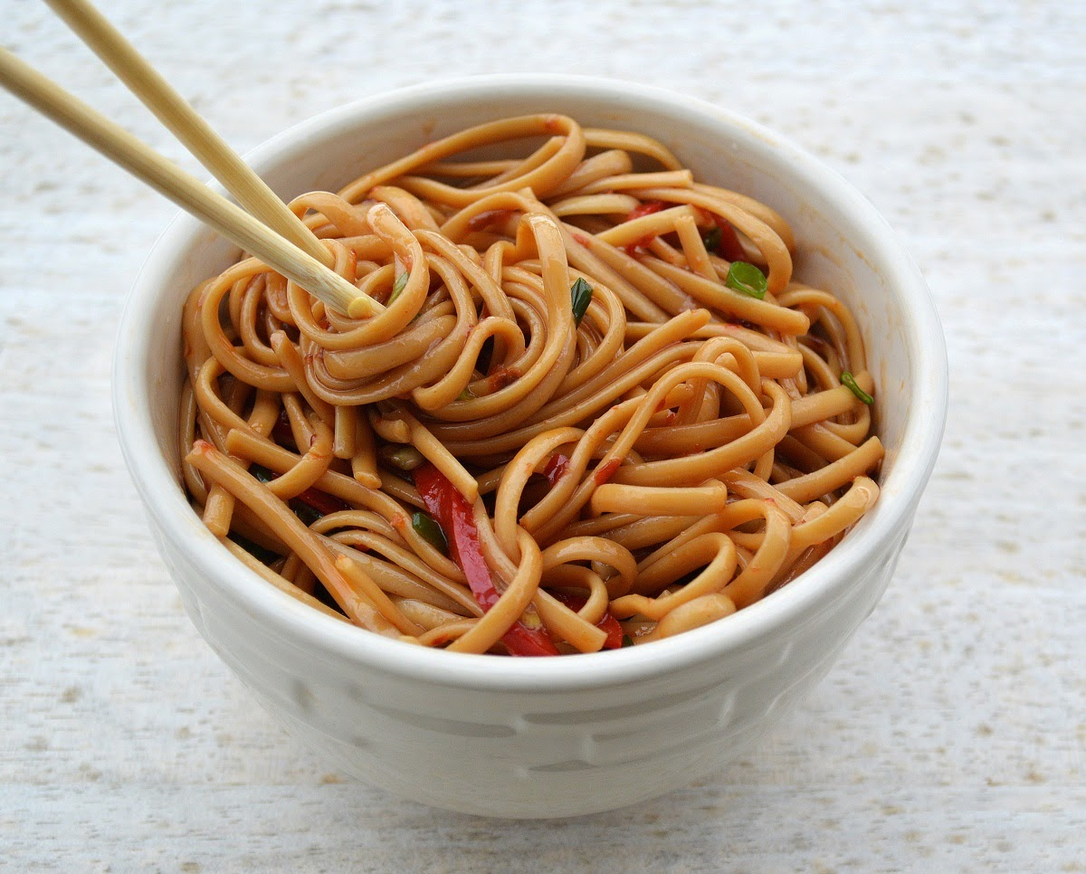 Easy Spicy Sesame Noodles - Souffle Bombay