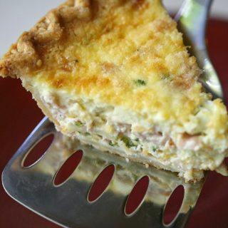 How to make a breakfast pie with egg, ham and cheese with a crust