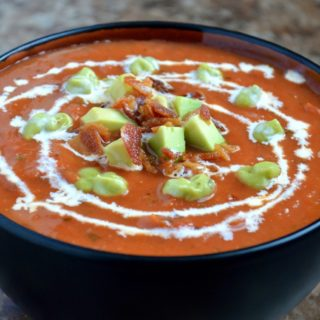Oven Roasted Creamy Tomato Soup
