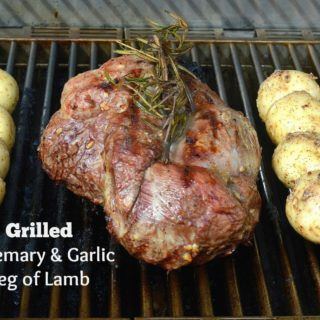 Garlic & Rosemary Grilled Leg of Lamb