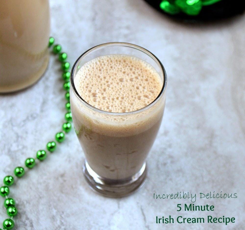 5 Minute Homemade Irish Cream Liquor